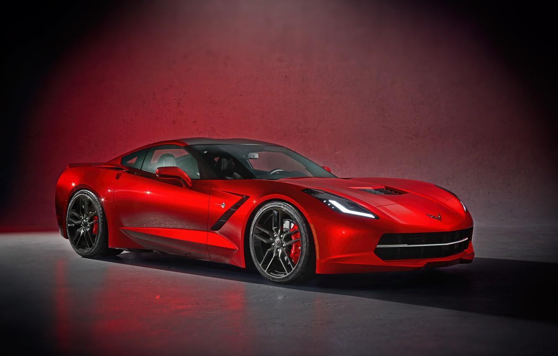Фото обои Красный, Corvette, Машина, Chevrolet Corvette, Суперкар, Спорткар, Corvette C7, Transport & Vehicles, by Damian Bilinski, …