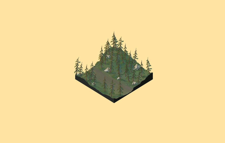Фото обои дорога, лес, деревья, рассвет