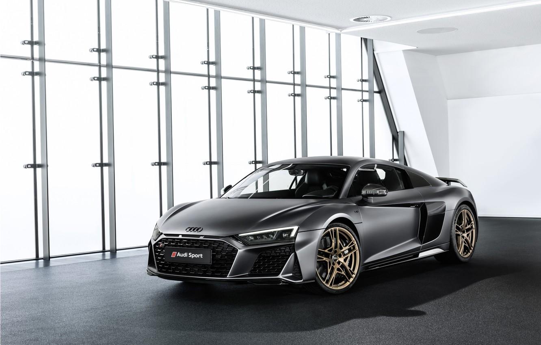 Фото обои машина, Audi, купе, спорткар, Audi R8, V10, Decennium
