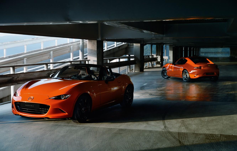 Фото обои машина, Mazda, паркинг, MX-5, 30th Anniversary Edition, 2020, MX-5 RF