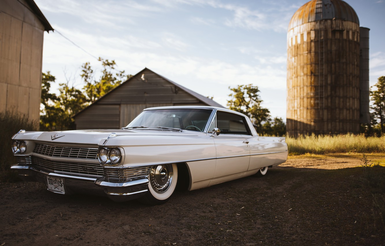 Фото обои Cadillac, 1964, DeVille, 1964 Cadillac DeVille, Cadillac DeVille