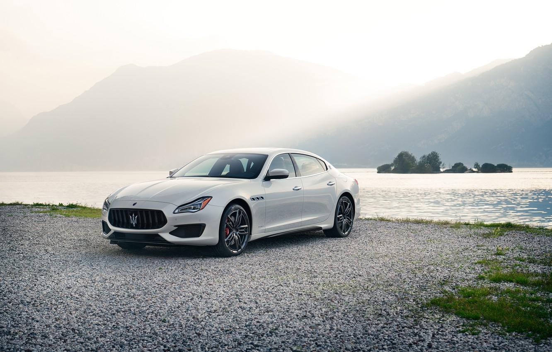 Фото обои авто, белый, Maserati, Quattroporte, металлик, GTS, 2019, GranSport