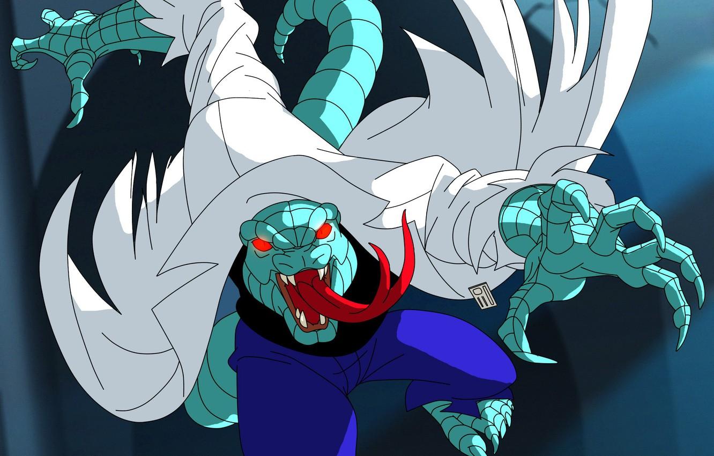 Фото обои ящер, lizard, Spider-Man The Animated Series, Курт Коннорс