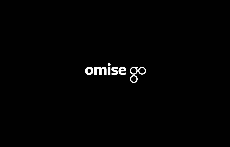 Фото обои logo, white, black, fon, cryptocurrency, omg, omisego
