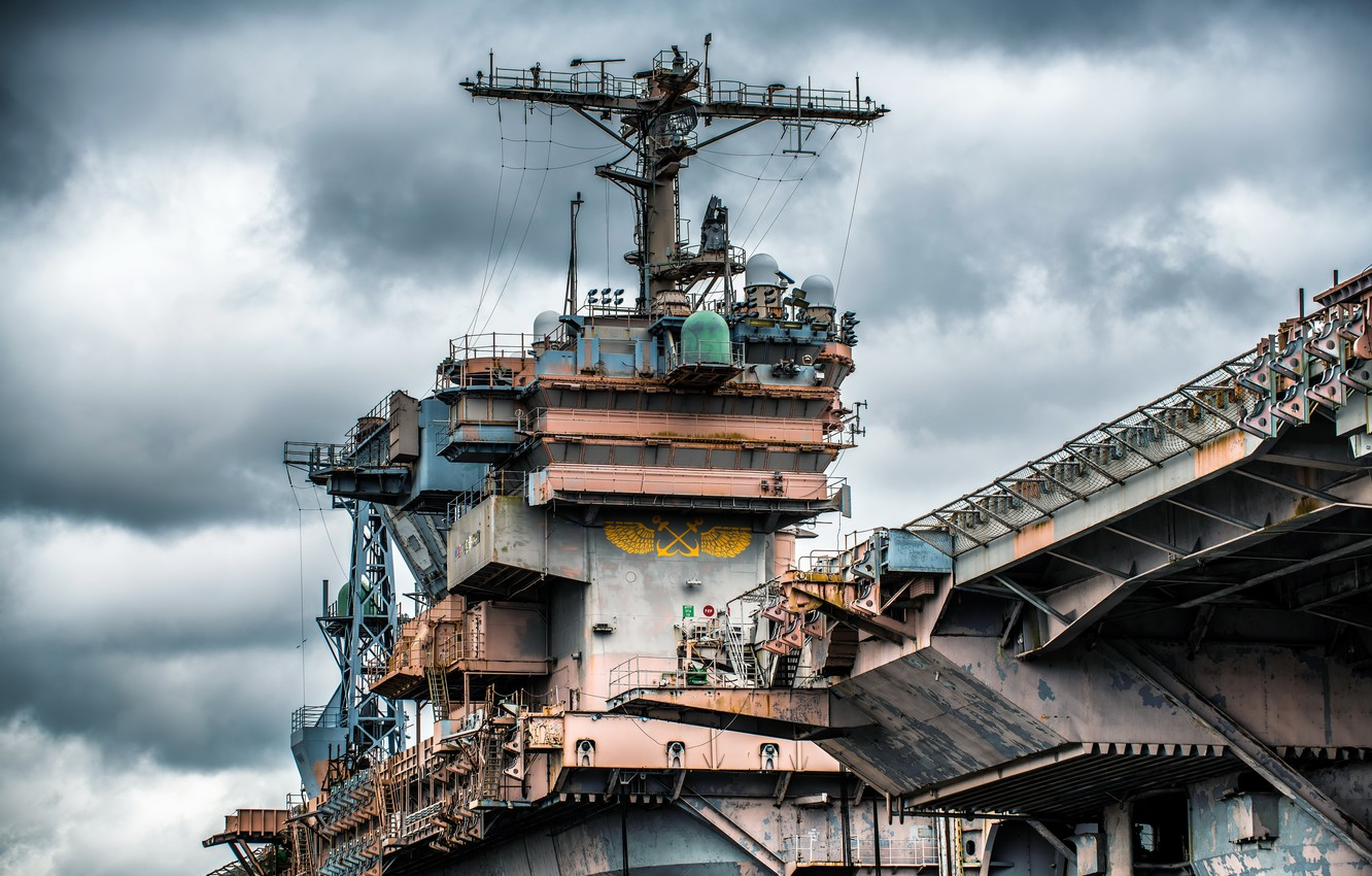 Фото обои legend, aircraft carrier, Tower, CV-67, USS John F.Kennedy