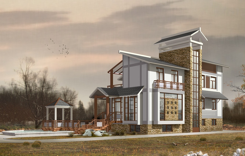 Фото обои дом, архитектура, проект