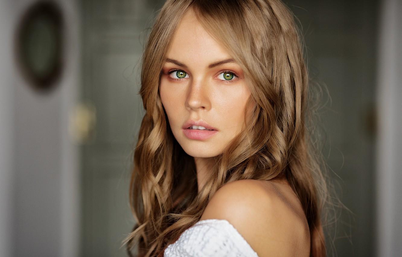 Фото обои глаза, взгляд, девушка, блондинка, Анастасия Щеглова, Mark Prinz