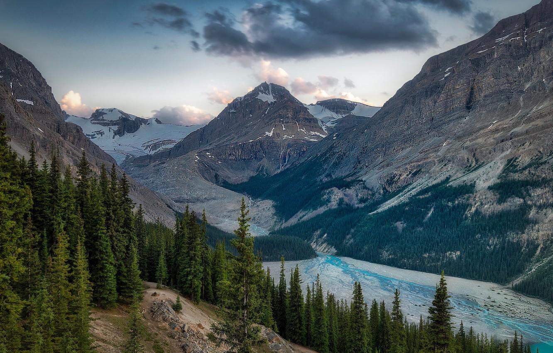 Фото обои горы, Канада, Alberta