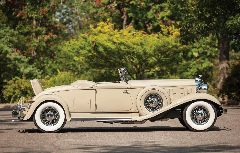 Фото обои Roadster, вид сбоку, Convertible, Chrysler Custom Imperial