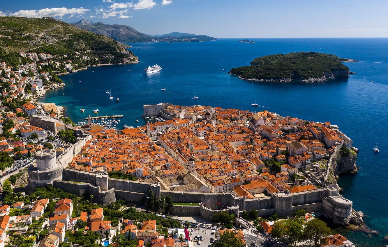 Обои Dubrovnik, здания, остров, дома, croatia, хорватия, адриатическое море, adriatic sea. Города foto 8