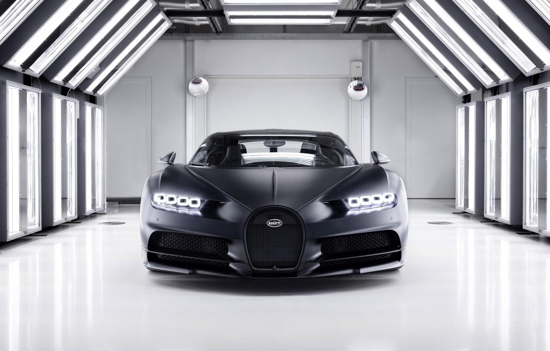 Фото обои Bugatti, Chiron, 2020, Super car, Bugatti Chiron Noire
