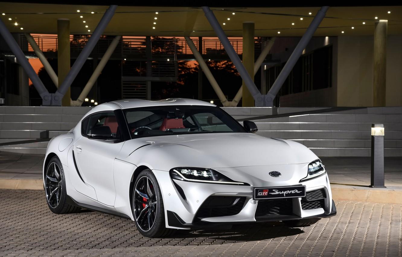 Фото обои Белый, Toyota, 2019, GR Supra