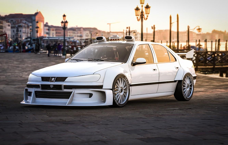 Фото обои Peugeot, Concept Art, 407, Taxi, Transport & Vehicles, Rostislav Prokop, by Rostislav Prokop, Taxi - …