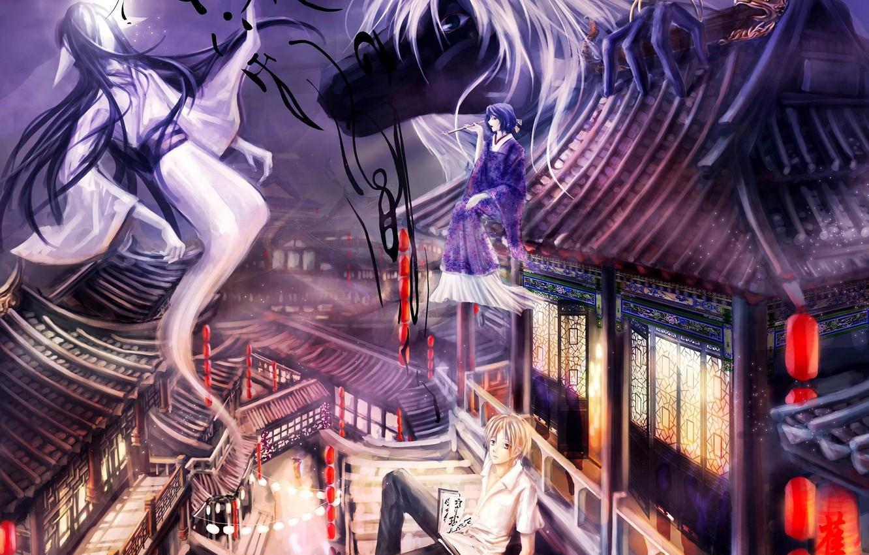 Фото обои призраки, Natsume Yuujinchou, ёкай, Тетрадь дружбы Натсуме