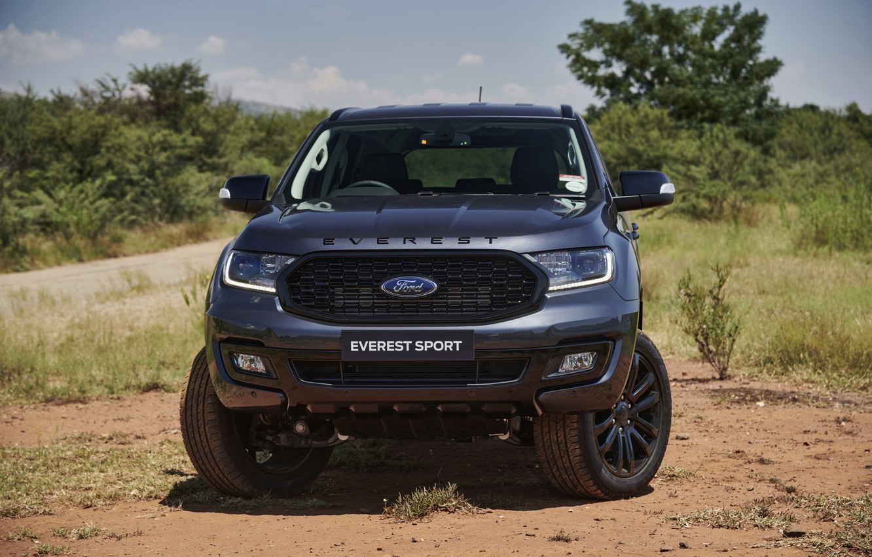 Фото обои Ford, вид спереди, Sport, Everest, 4WD, 2021