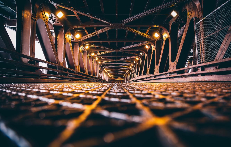 Фото обои мост, путь, конструкция, Чикаго, Chicago, bridge
