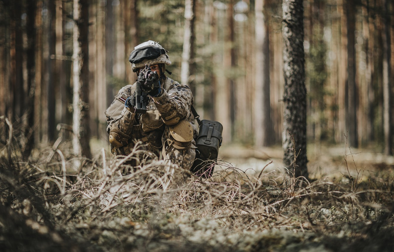 Фото обои оружие, армия, солдат, Latvian Army