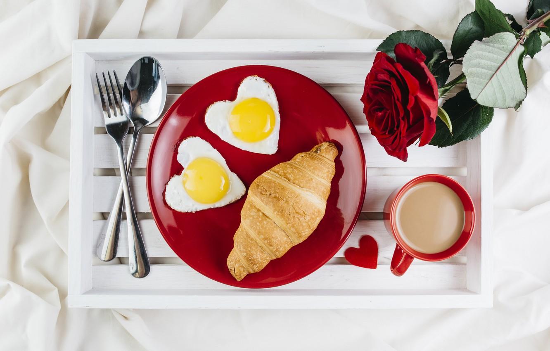 Завтрак любимому в картинках