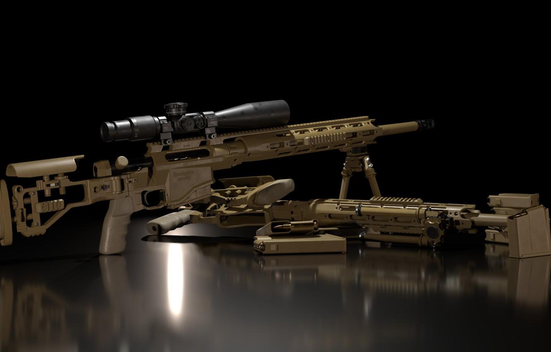 Фото обои рендеринг, оружие, gun, weapon, render, ремингтон, sniper rifle, снайперкая винтовка, remington, remington msr, ремингтон мср, …