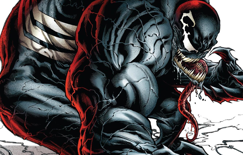 Фото обои язык, монстр, комиксы, комикс, мускулы, Веном, Venom
