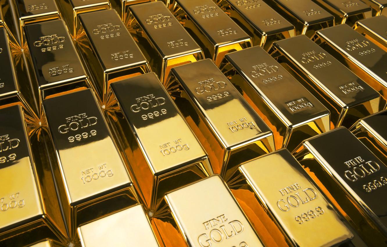 Фото обои золото, блеск, слитки, gold, пробы, ingots