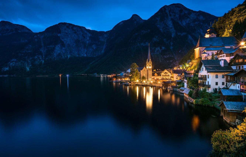 Обои hallstatt, lake hallstatt, австрия, гальштат, austria, alps. Города foto 16