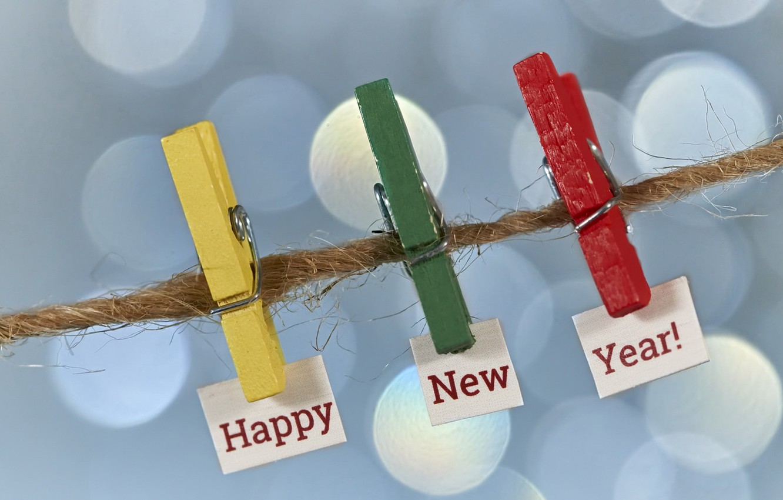 Фото обои New, Happy, Year