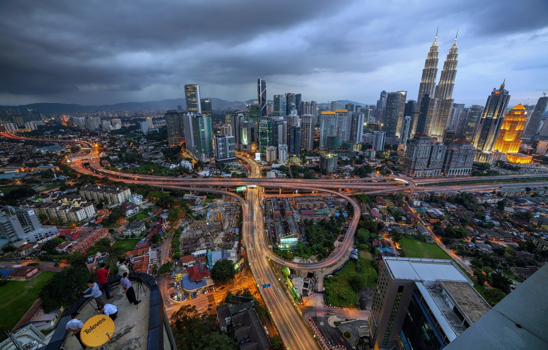 Фото обои город, люди, дома, Малайзия, Куала-Лумпур