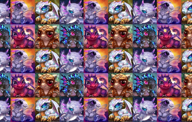 Фото обои малыш, фэнтези, арт, дракончик, детская, Rikku the Leaf, Baby dragons