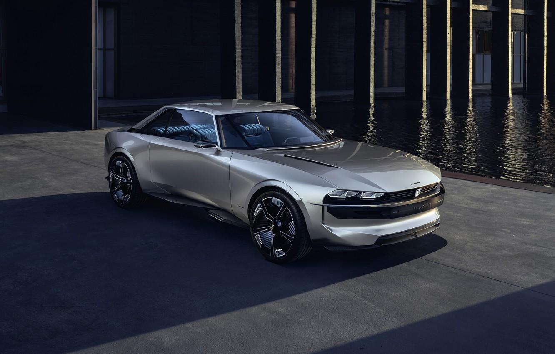 Фото обои car, Peugeot, gray, Peugeot e-Legend, e-Legend