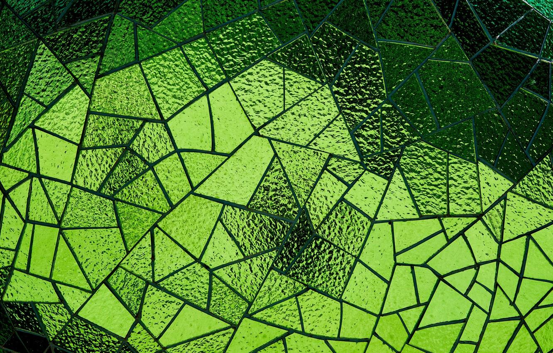 Фото обои стекло, мозаика, текстура, зелёный