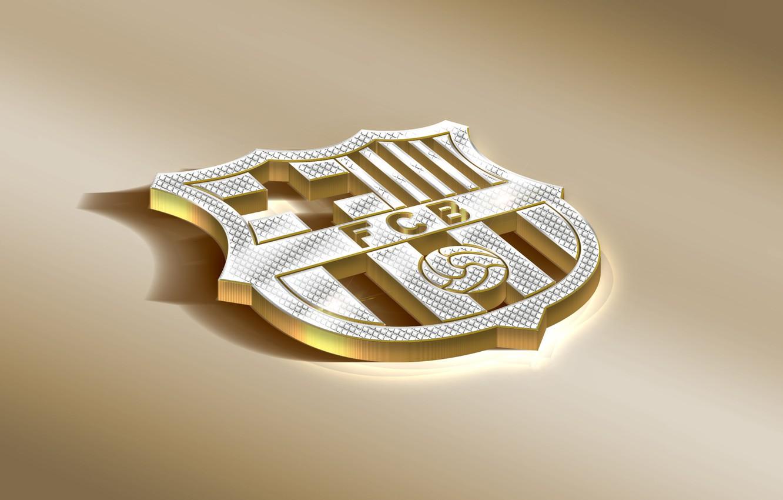 Фото обои Logo, Golden, Football, Soccer, FC Barcelona, Barca, Emblem, Spanish Club