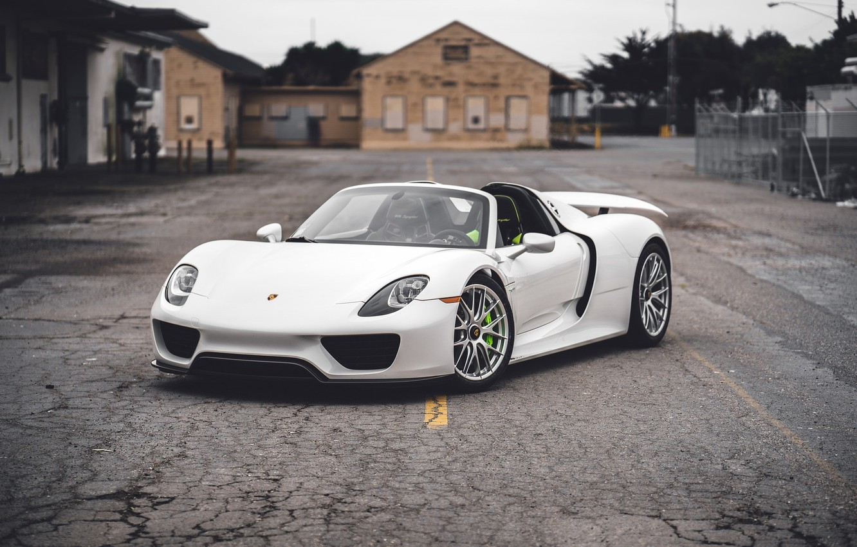 Фото обои Porsche, Spyder, 918, White, VAG