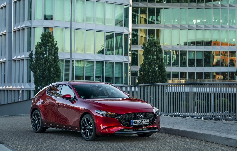 Фото обои Mazda, Hatchback, Mazda3, 2019, Skyactiv-X