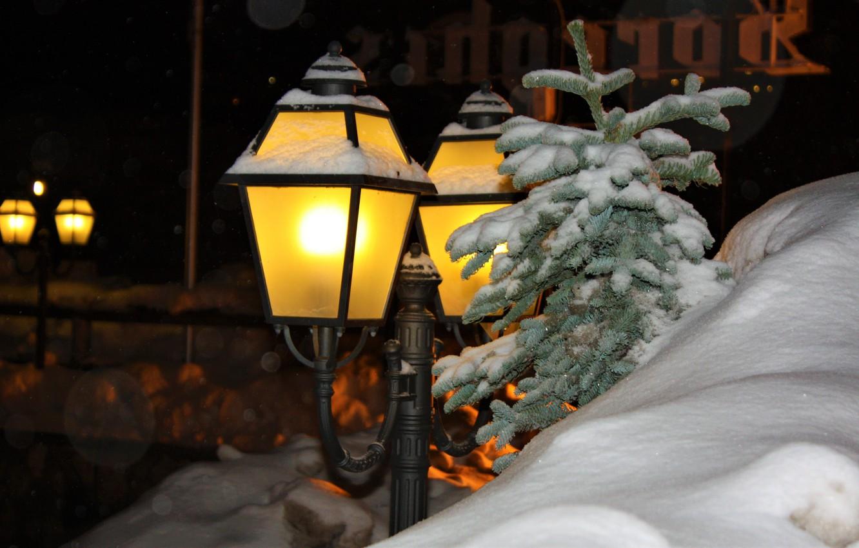 Обои зима, фонарь, Альпы, снег, ноч, Канацеи. Разное foto 6