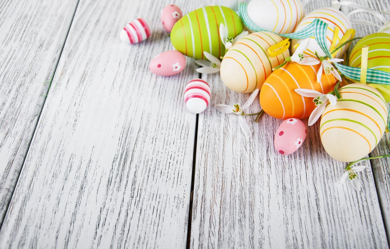 Фото обои цветы, яйца, colorful, подснежники, Пасха, happy, wood, blossom, flowers, spring, Easter, eggs, decoration, snowdrops