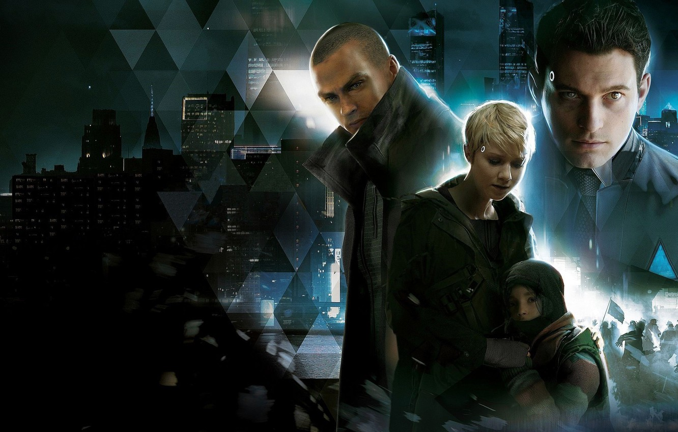 Фото обои Quantic Dream, Detroit, Game, Characters, Detroit Become Human