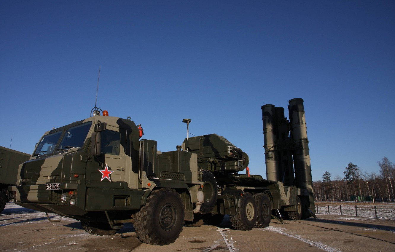 Фото обои weapon, winter, russian, missile, S-400 Triumph, S-400, anti-aircraft