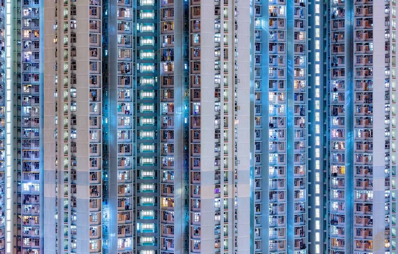 Фото обои дом, Block Tower, Kowloon Night Owls