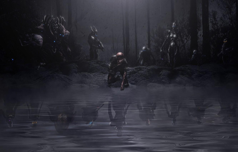 Фото обои сон, mass effect, Shepard, Garrus Vakarian, Ashley Williams, prothean, кошмар, edi, reaper, turian, asari, Tali'Zorah …
