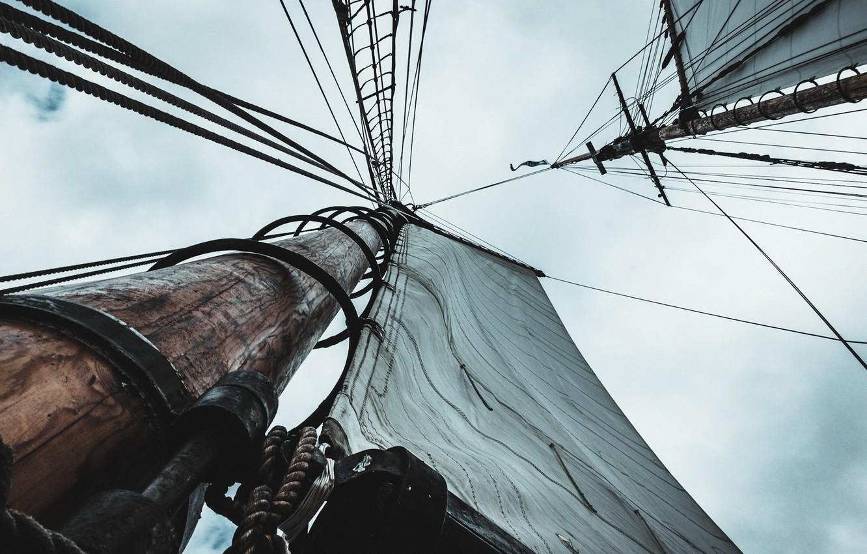 Фото обои небо, корабль, парус, мачта, Sylas Boesten