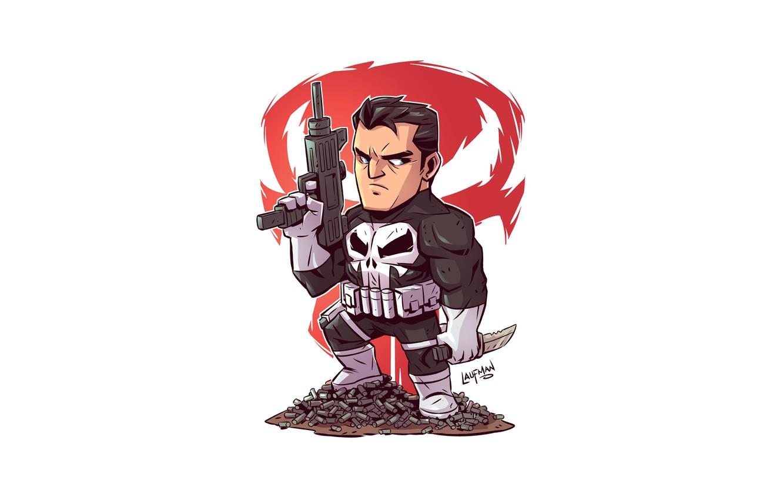 Фото обои Punisher, solider, Derek Laufman