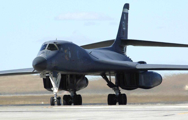 Фото обои бомбардировщик, самолёт, B-1B