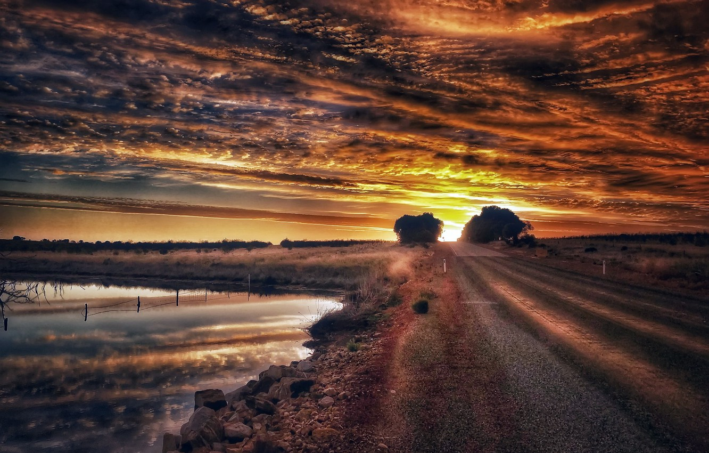 Красивые картинки дороги и закат