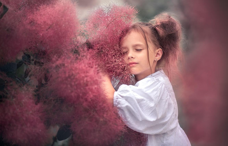 Фото обои природа, растения, девочка, ребёнок, Козел Марта