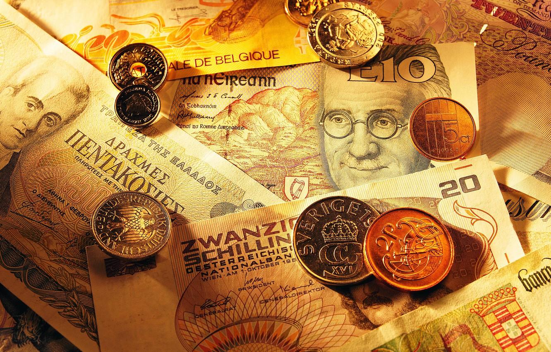 Фото обои деньги, монеты, валюта