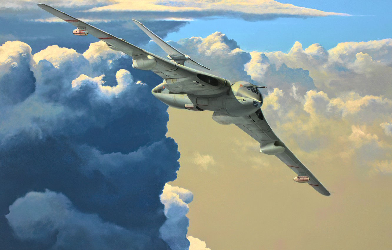 Фото обои art, airplane, aviation, jet, Handley Page Victor