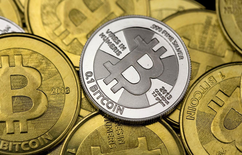 Фото обои монеты, fon, coins, bitcoin, биткоин, btc