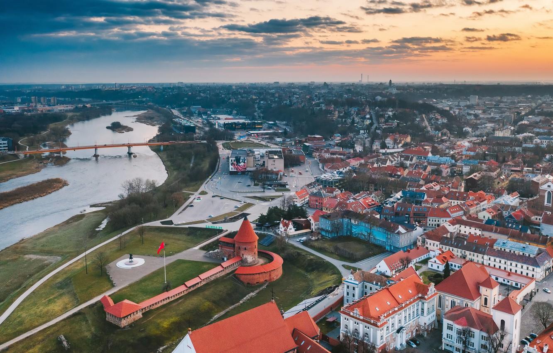 Фото обои город, Lietuva, Kaunas