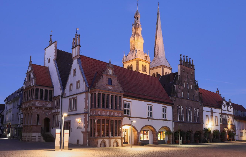 Фото обои Germany, North Rhine-Westphalia, Rathaus, Lemgo